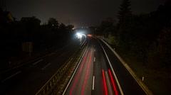 German Motorway (timelapse) - stock footage