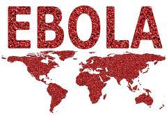 ebola virus worldwide spread - stock illustration