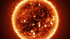 Large Firey Sun Stock Footage
