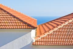 roof tiles - stock photo