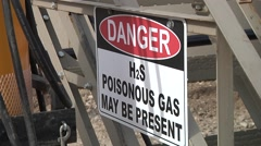 H2s Warning Sign Stock Footage