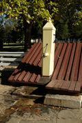 Old salem square cistern pump Stock Photos