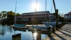 Sunset on marina timelapse.mp4 Stock Footage