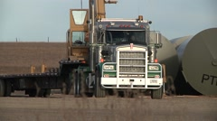 Large Truck Approaches Camera Stock Footage
