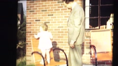 Stock Video Footage of vintage home movies, Father businessman