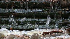 Thaw and falling drops of water Stock Footage