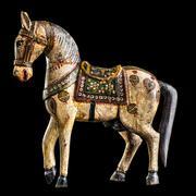 Antique wooden horse Stock Photos