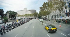 4K Barcelona POV Driving Stock Footage