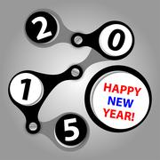 happy new year 2015 - created as industrial wishes - stock illustration