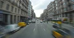 4K Barcelona Timelapse POV Driving Stock Footage