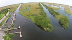 Florida Everglades waterways and airboats - stock footage