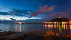 4k - Coastline Night Timelapse - Vung Tau, Vietnam Stock Footage