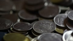 Indian Rupee coins Stock Footage