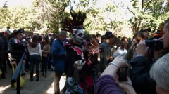 Scenes from The 24th Annual Tompkins Square Halloween Dog Parade - stock footage