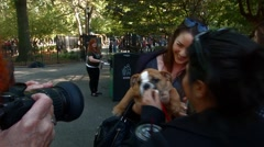 Stock Video Footage of Scenes from The 24th Annual Tompkins Square Halloween Dog Parade