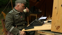 German army communications coffee Stock Footage
