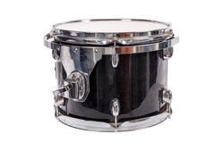 black music bass drum  on white background - stock photo