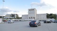 Tirana univerzitet001 Stock Footage