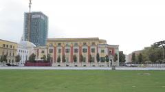 Tirana kruzni zgrade Stock Footage