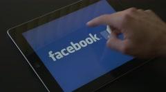 4K Social Media Brands Logo Swiping - stock footage