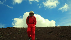 astronaut logo visible space man - stock footage