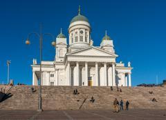 Helsinki, finland - october 18, 2014: helsinki cathedral , the finnish evange Stock Photos