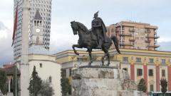 Tirana skendereg06 Stock Footage