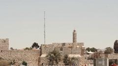 Jerusalem holy land Israel, western wall,  Jews city, citys mitzvah Stock Footage
