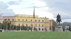 Tirana skendereg04 Stock Footage