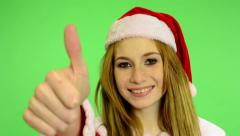 Stock Video Footage of Christmas - Holidays - young attractive woman - green screen - woman agrees