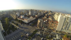 Panoramic view of city center of Tirana Stock Footage