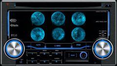 Satellite navigation system in car Stock Footage