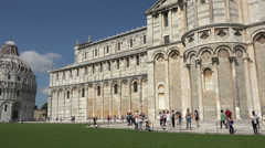 Pisa Italy Cathedral to Baptistery pan HD 042 Stock Footage