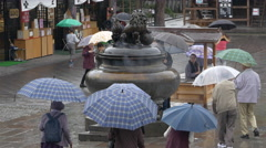Incense Burner at Zenkoji Temple in Nagano, Japan Stock Footage