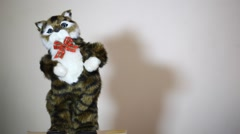 Dancing cat doll Stock Footage