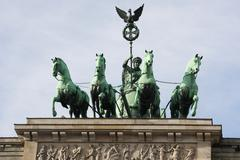 quadriga - brandenburg gate - stock photo