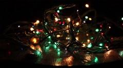 Chrismas Lights Reflection - stock footage