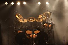 Set of drums on stage Stock Photos