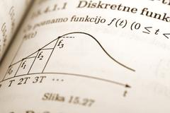 math equation in a book - stock photo