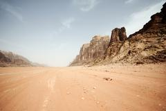 Beautiful desert in jordan Stock Photos