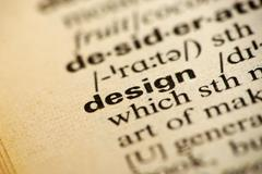 Design meaning in dictionary Stock Photos