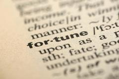 fortune meaning in dictionary - stock photo