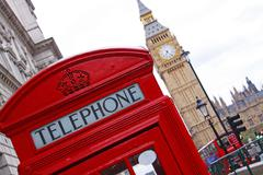 Telephone booth in london Stock Photos
