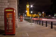 telephone booth in london - stock photo