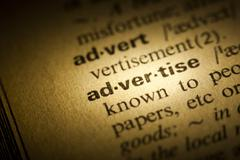 advertise meaning in dictionary - stock photo