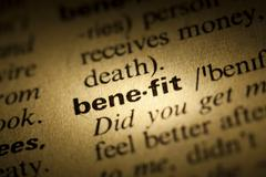 benefit meaning in dictionary - stock photo