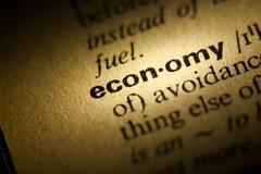 economy meaning in dictionary - stock photo