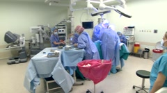 Pan in Surgery Room Stock Footage