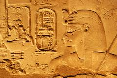 hieroglyphs in color - stock photo