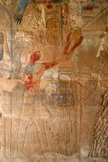 hieroglyphs in color - stock photo